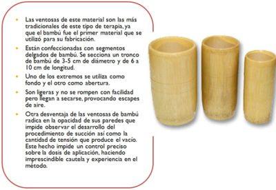 Ventosas en la medicina tradicional china de bambú